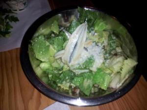 Caesar Salad with Fried Capers and Anchovies